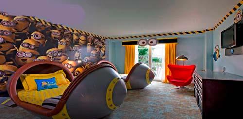 temáticas en los hoteles de Universal